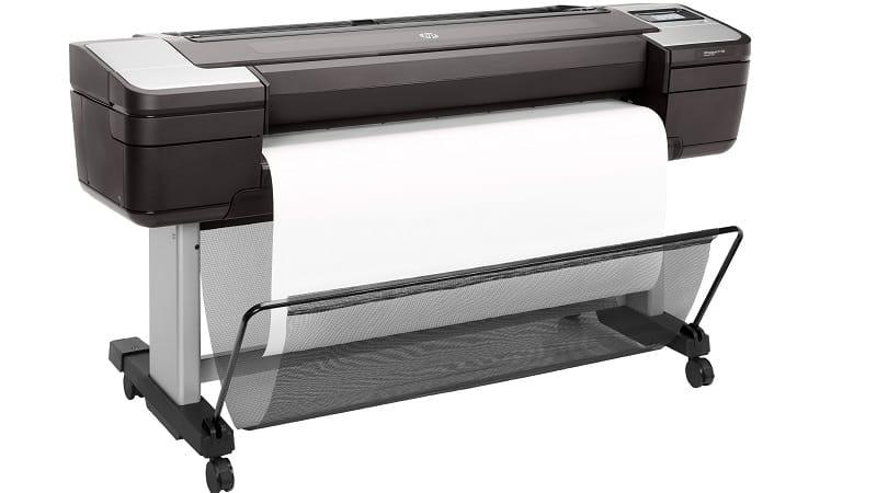 hp designjet t1700 printert side