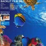 BACKLIT FILM със специално бързосъхнещо покритие за възпроизвеждане на висококачествени апликации за светещи кутии